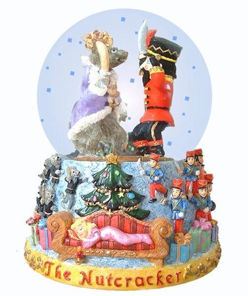 Nutcracker Snow Globe Picture in Cake Decor