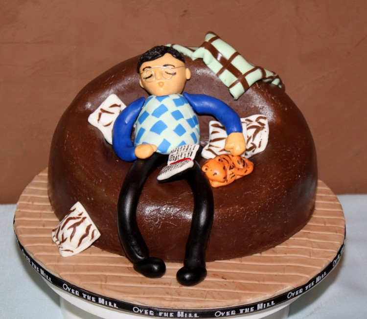 Old Man Cake Topper Picture in Cake Decor