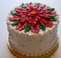 640x425px Poinsettia Cake Decorations Picture in Cake Decor