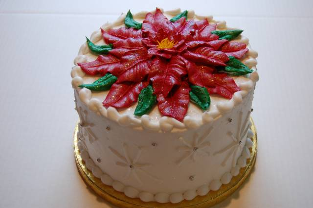 Poinsettia Cake Decorations Picture in Cake Decor
