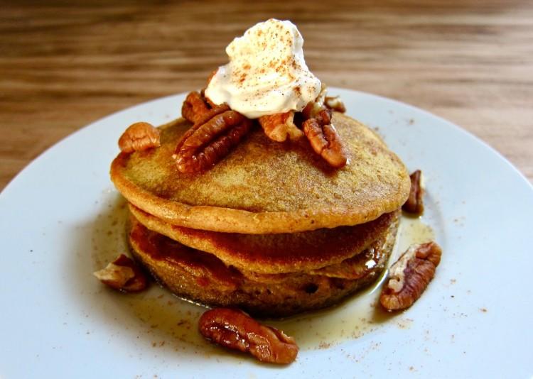 Pumpkin Pancakes With Pancake Mix Picture in pancakes