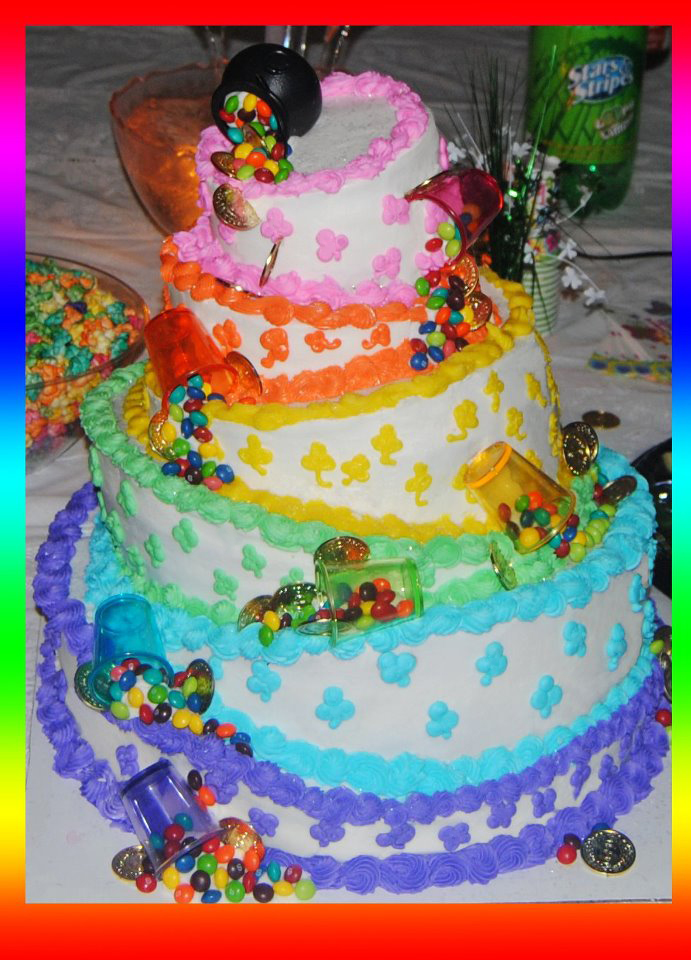 Rainbow Cake Decoration Picture in Cake Decor