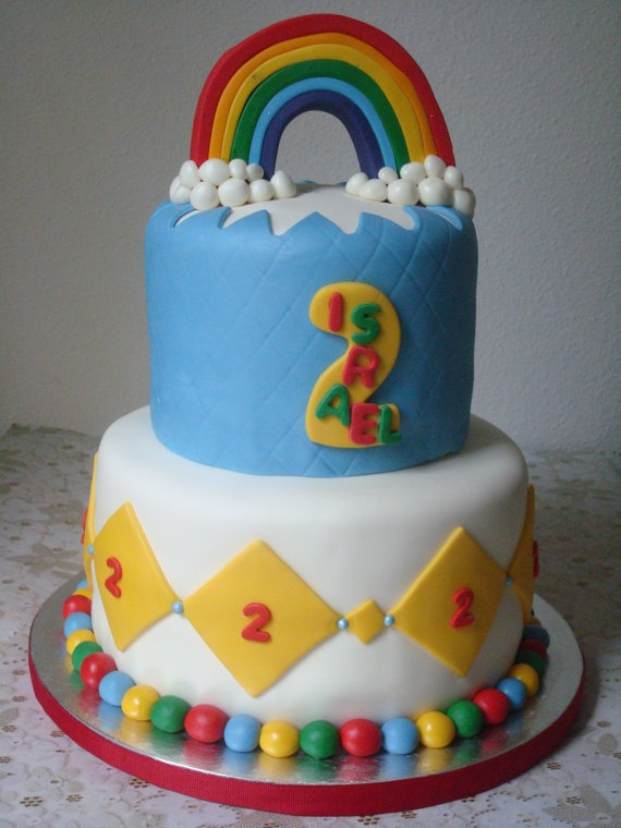 Rainbow Cake Toppers Picture in Cake Decor