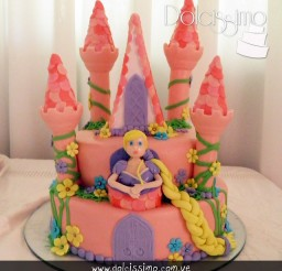 640x640px Rapunzel Castle Cake Picture in Cake Decor