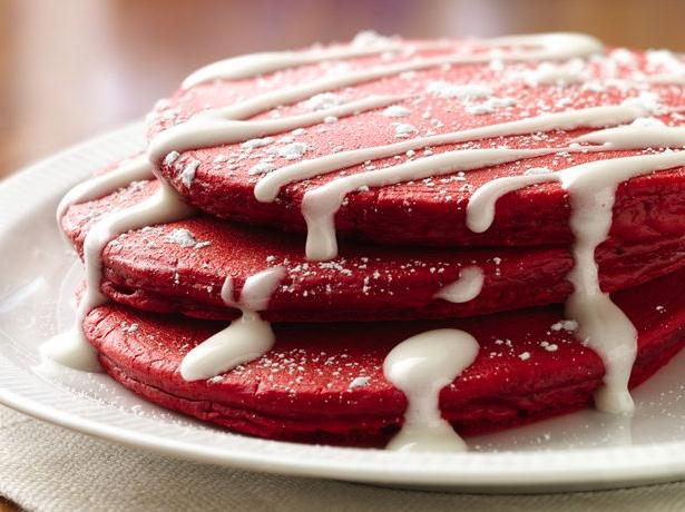 Red Velvet Pancake Recipe Picture in pancakes
