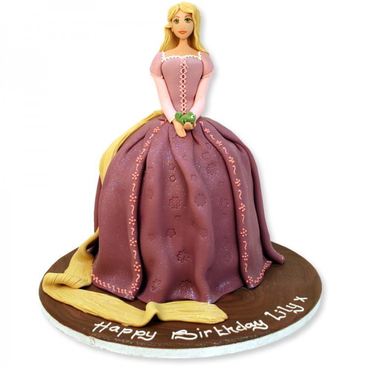 Repunzel Cake Picture in Cake Decor