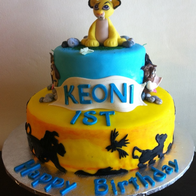 Simba Cake Picture in Birthday Cake