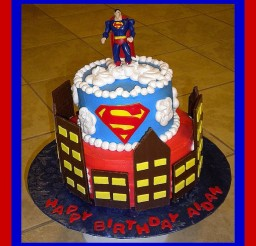 582x640px Superman Cakes Picture in Birthday Cake
