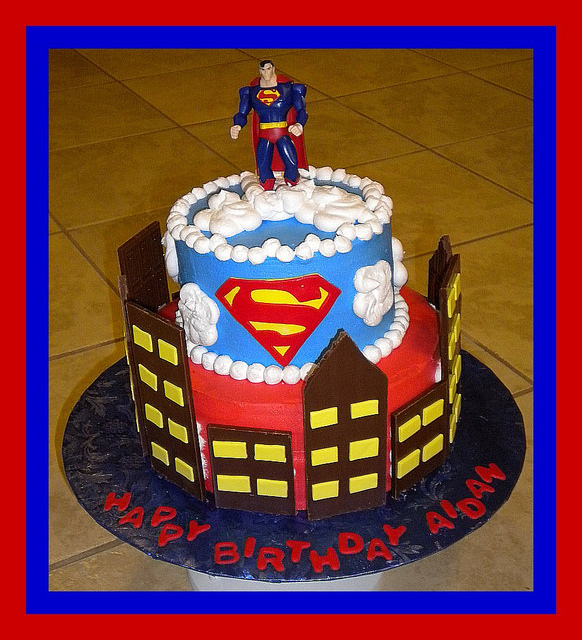 Superman Cakes Picture in Birthday Cake