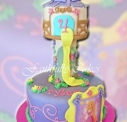 495x640px Tangled Rapunzel Tower Picture in Cake Decor