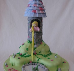 1536x2048px Tangled Tower Picture in Cake Decor