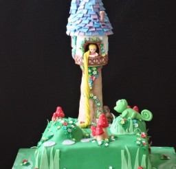 1944x2592px Tangled Tower Cake Picture in Cake Decor