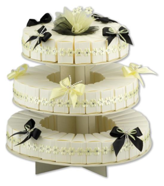 Tiered Cake Box Picture in Cake Decor