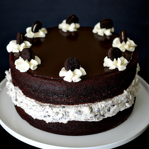 Decorated Oreos Cake Picture in Chocolate Cake