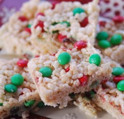 550x397px Holiday Rice Crispy Treats Recipe Picture in Cake Decor