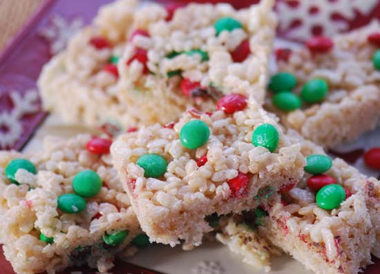 Holiday Rice Crispy Treats Recipe Picture in Cake Decor