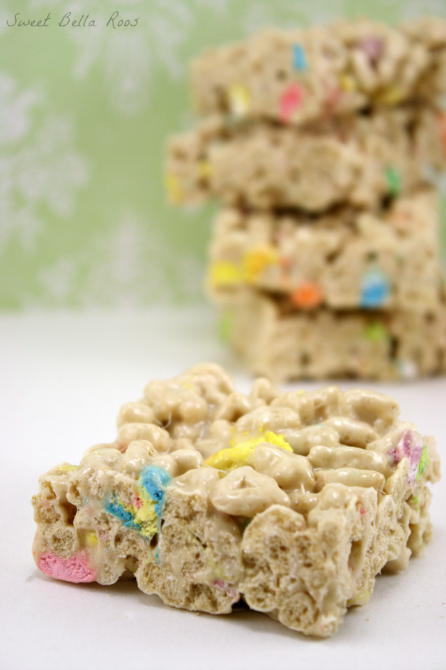Lucky Charm Cereal Bars Picture in Cake Decor