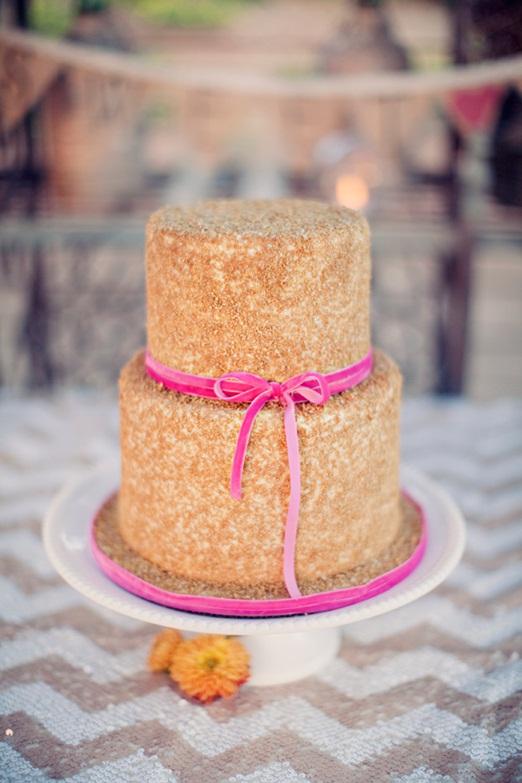 Pink Velvet Ribbon Picture in Cake Decor