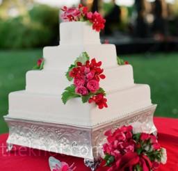 650x650px Square White Cake Stand Picture in Cake Decor