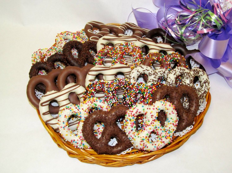Chocolate Covered Pretzels Picture in Chocolate Cake