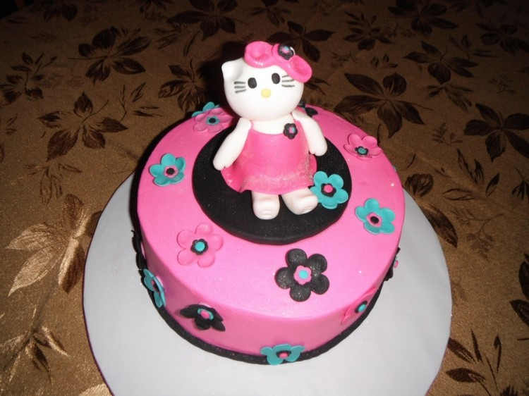 Hello Kitty Cakes For Kids Picture in Birthday Cake