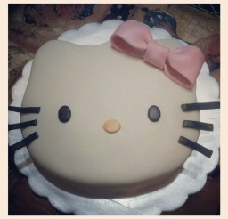 736x736px Hello Kitty Marshmallow Picture in Birthday Cake