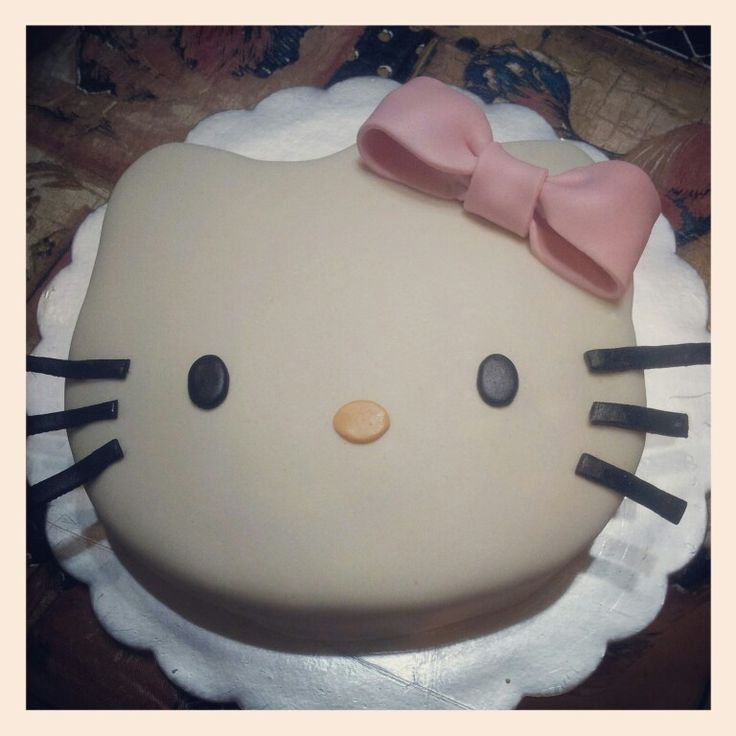 Hello Kitty Marshmallow Picture in Birthday Cake