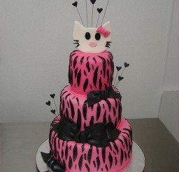 480x640px Hello Kitty Zebra Print Picture in Birthday Cake