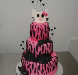 480x640px Hello Kitty Zebra Print Picture in Birthday Cake
