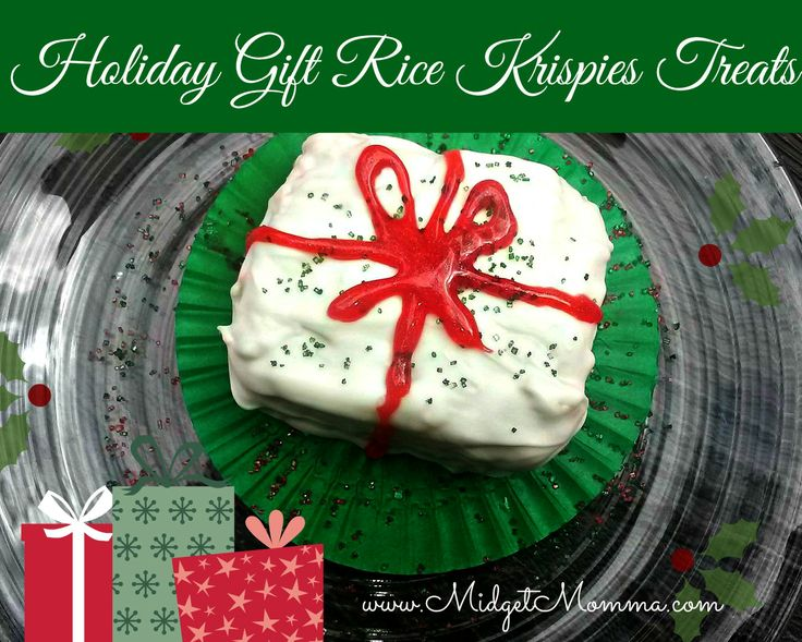Nice Holiday Rice Krispies Picture in Birthday Cake
