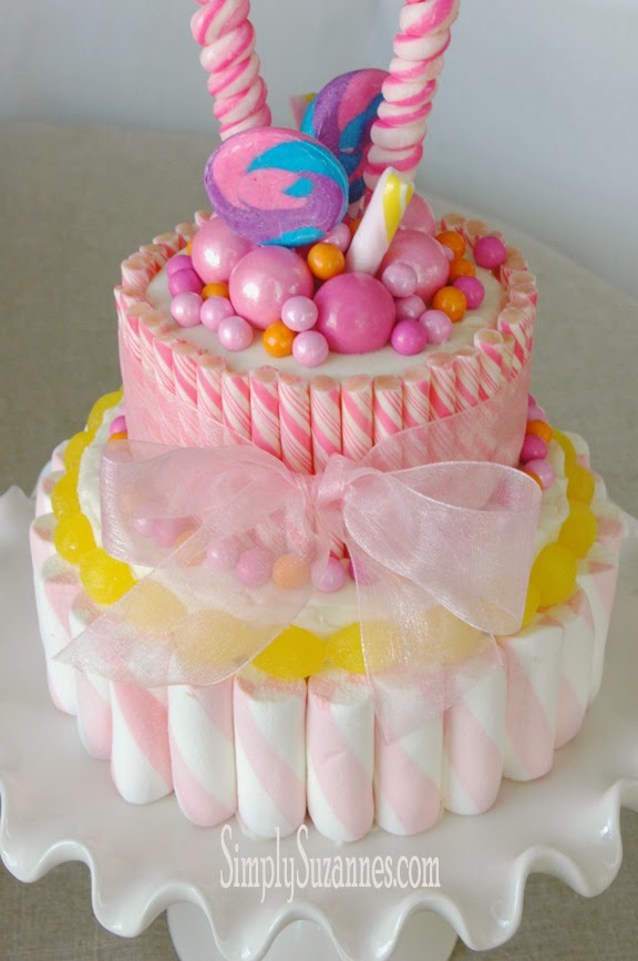 Pink Candies Cake Picture in Cake Decor