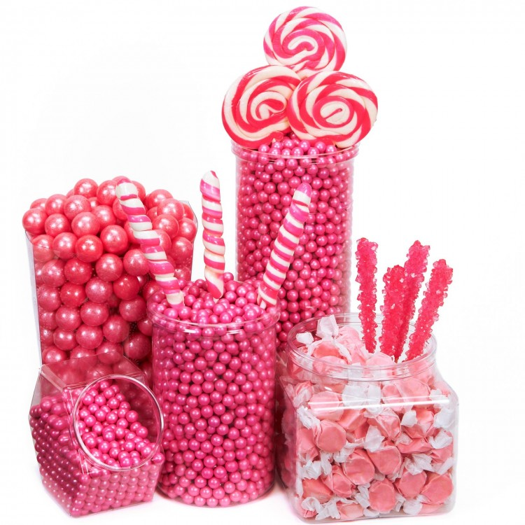 Pink Candy Buffet Ideas Picture in Chocolate Cake