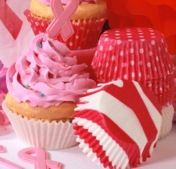 600x600px Pink Ribbon Baking Supplies Picture in Cupcakes