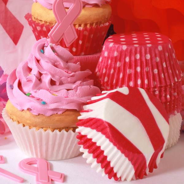 Pink Ribbon Baking Supplies Picture in Cupcakes
